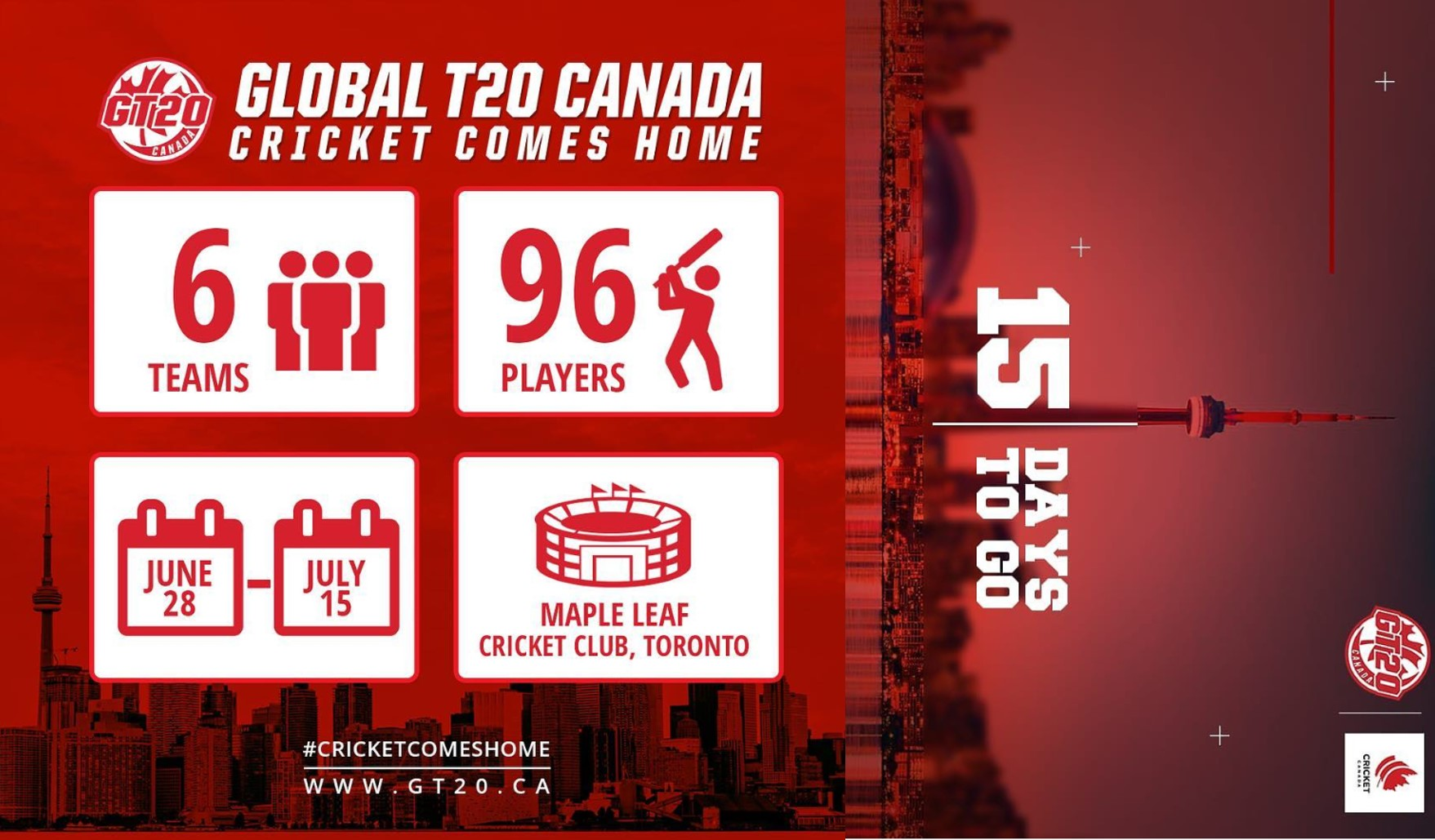 Match Schedule Unveiled for Inaugural Global T20 Canada
