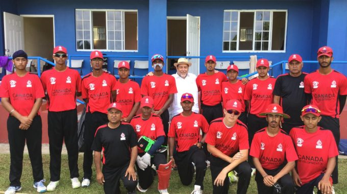 Prime Minister Of St. Vincent And The Grenadines Dr. Hon. Ralph Gonsalves With Canadian Team