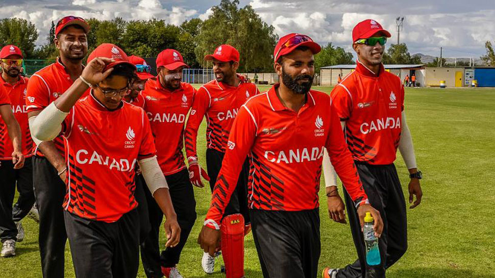 Cricket Canada players during practice session