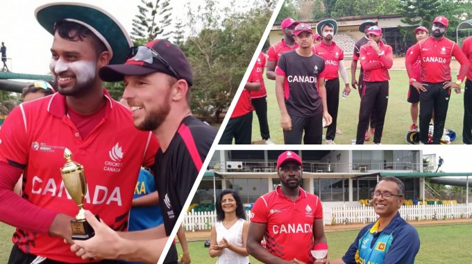 Cricket Canada Scores 261 Runs Against Old Sebastianites And Wins Again At The Chilaw Marian's Ground.