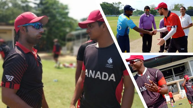 Cricket Canada Wins The Last Practice Match Against Moratuwa SC And Ends The Tour On A High Note.